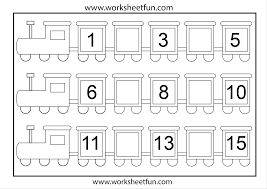preschool worksheets numbers