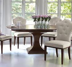 dining round pedestal dining table with velvet dining chair and