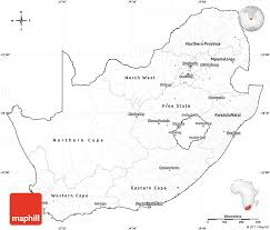 blank simple map of south africa cropped outside
