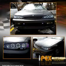 97 honda accord lights 1996 1997 honda accord halos projector led headlights jdm black