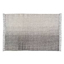 mekong nights black off white cotton rug 160x230cm aai made with