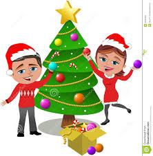 christmas tree decorating decorating christmas tree royalty free stock images image 34337809