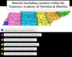 Zip Code Map Knoxville Tn by Districts Tennessee Academy Of Nutrition And Dietetics Tand