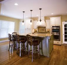 Traditional Island Lighting Staggered Cabinets Kitchen Traditional With Cabinet Front