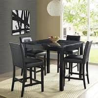 black counter height table set black counter height table and 4 kitchen counter chairs 5 piece