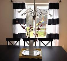 Tan And White Horizontal Striped Curtains Wide Stripe Curtains Horizontal Integralbook Com