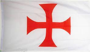 knights templar cross flag 5x3 christian crusades crusader
