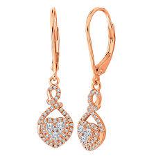gold drop earrings 1 2 ct t w white diamond 10k gold drop earrings jcpenney