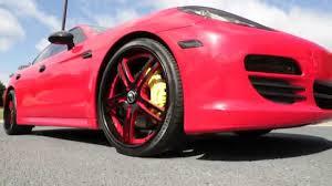 Porsche Panamera Black Rims - 2012 porsche panamera forgiato wheels 3m gloss red