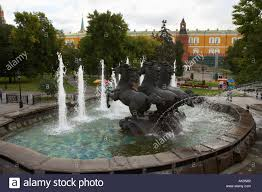 ornamental with three horses in alexandrovsky gardens