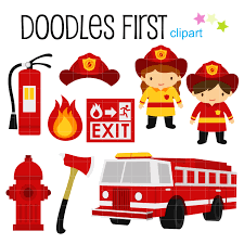 firefighter cupcake toppers firefighters digital clip for scrapbooking card