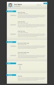 html resume template versatile html resume template open templates sility vcard cv