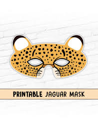 jaguar costume jaguar printable mask kids party halloween costume mask