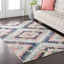 Pink Area Rug Mistana Blue Pink Area Rug Reviews Wayfair