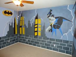 Childrens Bedroom Borders Stickers Batman Room Makeover Started With Blue Walls Brick Is Painted