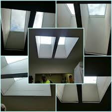 a couple of velux fixed skylights now feature in the dining