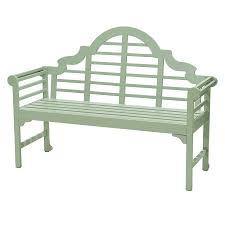 robert dyas murcia 2 seater garden bench seagrass green painted