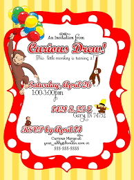 curious george party ideas party invitations 10 curious george party invitations printable