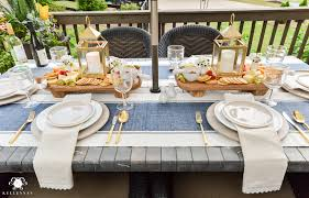 Dining Room Place Settings Appetizers And Cheese Boards A Different Centerpiece For Outdoor