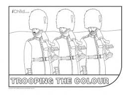 trooping colour colouring picture ichild