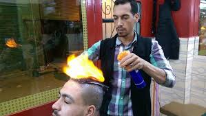 pakistan hair style video egyptian barber uses fire to straighten and style hair cgtn