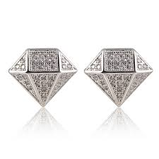 real earrings popular mens real diamond earrings buy cheap mens real diamond