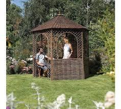willow gazebo buy rowlinson willow hexagonal garden gazebo at argos co uk your
