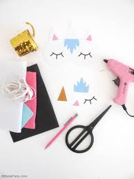 template diy no sew diy unicorn sleeping masks with free template ideas