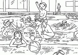 swimming pool it u0027s very fun coloring page for kids seasons