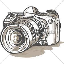 drawn camera dslr camera pencil and in color drawn camera dslr