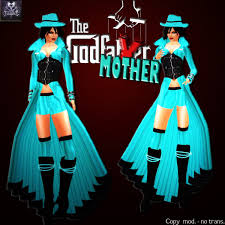1950 Halloween Costume Marketplace Godmother Gangster 1950 Turquoze