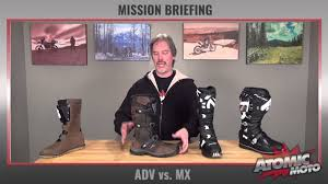 msr motocross boots mission brief adventure boots vs mx boots by atomic moto youtube