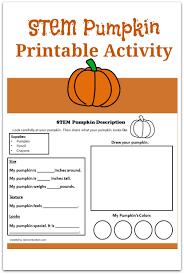 stem pumpkin printable activity