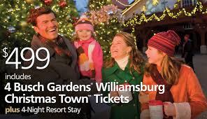 busch gardens christmas town vacation bluegreen getaways