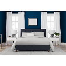 Blue Bed Frame Dhp Emily Blue Upholstered Linen Size Bed Frame 4108639