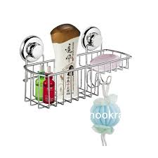 Suction Shelf Bathroom Bathroom Accessories Stainless Steeel Suction Cup Shower Caddy