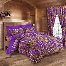 Purple Full Size Comforter Set Purple Camo Bed In A Bag Set The Swamp Company