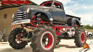 monster trucks in mud videos this vintage 1950 chevrolet truck has been transformed into one