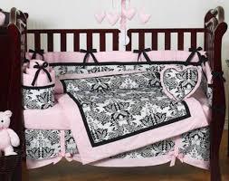 Pink And Brown Damask Crib Bedding Damask Baby Bedding Vine Dine King Bed Damask Baby