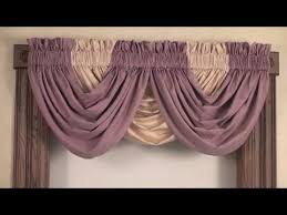 How To Make A Ruffled Valance How To Make Lined Swag U0026 Valance Curtains Sewing Pinterest