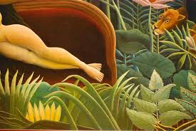 paint dream arts food closely looking at henri rousseau s the dream ted