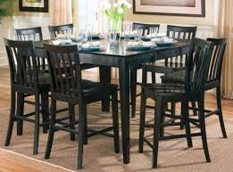 Black Dining Room Hutch by Beautiful Tall Dining Room Table Photos Rugoingmyway Us