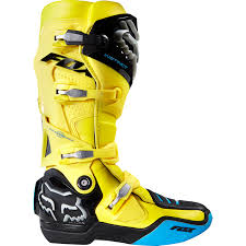 blue motocross boots fox instinct ltd edition le union motocross boot yellow mxweiss