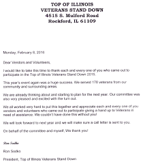 Thank You Letter Veterans stand 2015 thank you letter sgt p s lapghans for veterans