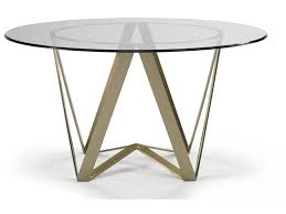 Dining Table Bases For Glass Tops Cth Sherrill 380 034 With Optional Gl054 Glass Top Dining Room