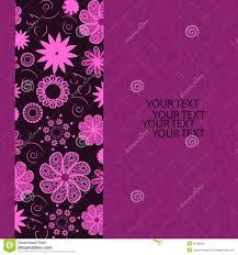 Invitation Card Background Design Invitation Card With Flower Illustration Royalty Free Stock