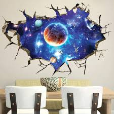 Ceiling Ls For Living Room 3d Universe Celestial Ceiling Diy Wall Stickers Pvc Wall