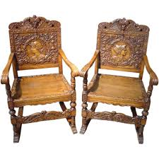 Antique Wood Chair Pair Of Antique Renaissance Style Walnut Wood Chairs Walnut Wood