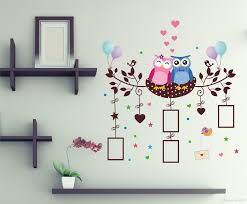 wholesale christmas cartoon owls animals wall stickers pvc