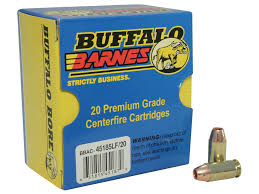 Barnes Tac Xpd 380 Buffalo Bore Ammo 45 Acp P 185 Grain Barnes Tac Xp Mpn 45 185lf